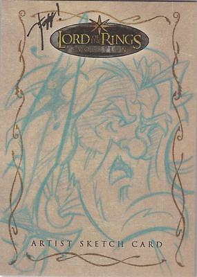 """Lord of the Rings Evolution - Jeff Chandler """"Gandalf"""" Sketch Card"""