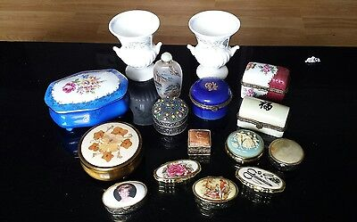 Joblot Trinket box /Pillboxes/ Vases