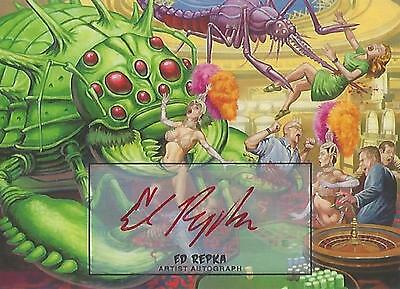 "Mars Attacks Invasion - ""Ed Repka"" Artist Autograph Parallel Card #4"