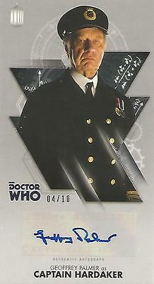 """Doctor Who Widevision: Silver Geoffrey Palmer """"Hardaker"""" Autograph Card #04/10"""