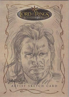 """Lord of the Rings Evolution - Ray Dillon """"Aragorn"""" Sketch Card"""