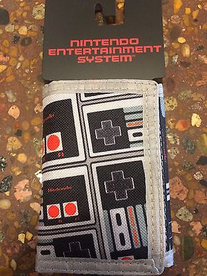 Nintendo Entertainment System NES Tri-Fold Canvas Wallet Controller 90's Collect