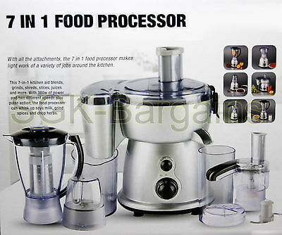 Food Processor Multi Functional 7 In 1 Grinder Blender Chopper Shredder Mixer NT