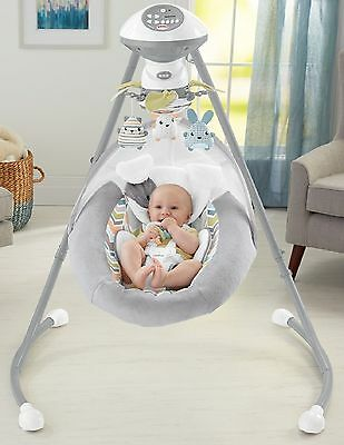 FISHER PRICE SNUGAPUPPY SWEET DREAM CRADLE SWING Infant Baby Play Nap NEW MODEL