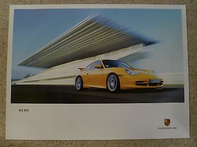 """2002 Porsche 911 GT3 Showroom Advertising Poster RARE!! 40"""" x 30"""" Awesome L@@K"""