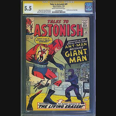Tales To Astonish #49 Cgc 5.5 Ss Stan Lee 1St App Giant Ant Man Thanos Avengers