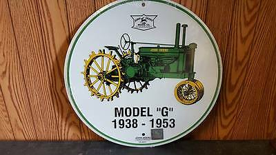 "John Deere Model ""g"" 1938-1953  12"" 3D  Round Sign Limited! Rare Find! 2010 Usa"