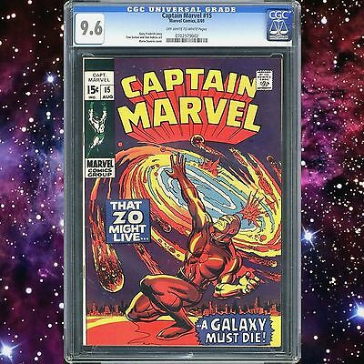 Captain Marvel #15 Cgc 9.6 Only 2 In 9.8 Avengers Thanos Infinity Guardians Rare