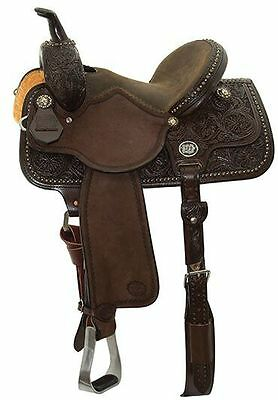 "Reinsman 14.5"" #4265 Molly Powell Vintage Cowgirl Barrel Racing Saddle Full Bar"