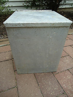 Vintage Small Milk Porch Delivery Metal Insulated Box Society for the Blind