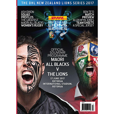 MAORI v BRITISH & IRISH LIONS 2017 PROGRAMME
