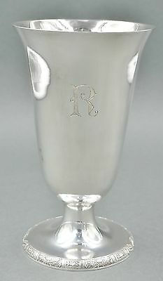 Fine Antique Chinese Sterling Silver Art Deco Water Wine Goblet 230 GRAMS #9