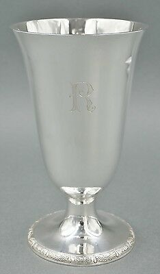 Fine Antique Chinese Sterling Silver Art Deco Water Wine Goblet 212 GRAMS #10