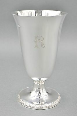 Fine Antique Chinese Sterling Silver Art Deco Water Wine Goblet 201 GRAMS #12