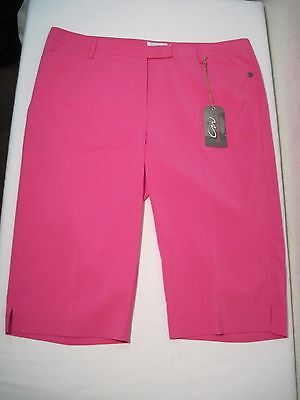 Cracked Wheat Allison Capri Golf Pants, Size 14, Feisty Pink, New with Tags
