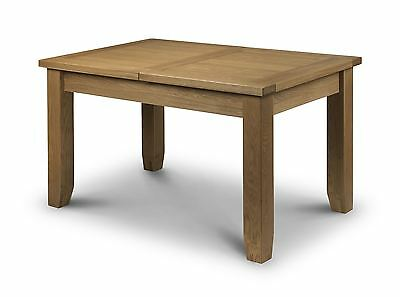 Julian Bowen Astoria Solid Oak Waxed Finish Wood Extending Dining Table Only