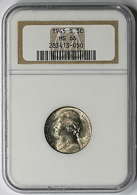 1945-S Jefferson Nickel 5C MS 66 NGC
