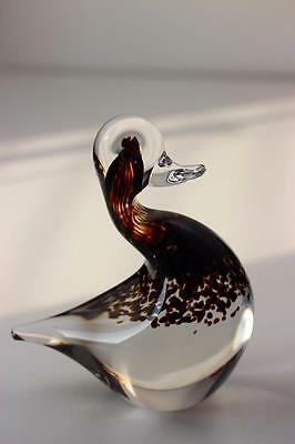Wedgwood  British Art Glass Large Duck Paperweight Weighs 1.1kg