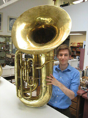 REPAIRMAN'S SPECIAL CONN 20J BBb TUBA, ALL ORIGINAL!