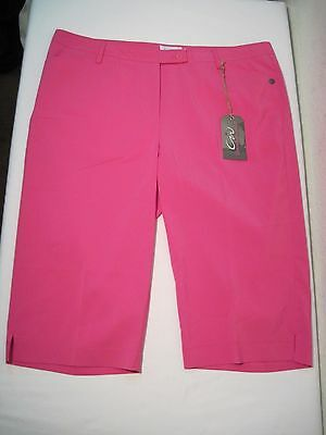 Cracked Wheat Allison Capri Golf Pants, Size 20, Feisty Pink, New with Tags