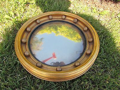 Vintage Mirror Girandole Richards Boston Massachusetts Parabolic Convex Rare