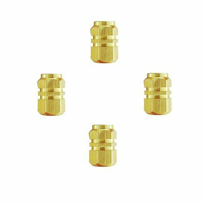 4 PCS Gold Hexagonal For Auto Car Truck Tyre Wheel Ventil Valve Cap Cover