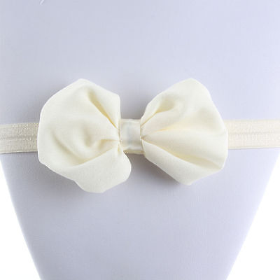 Cute Toddler Baby Girls Hair Band Bowknot Headband Accessories Beige Color New
