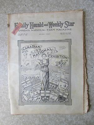 Vintage Canadian National Exhibition 1930 Family Herald Issue