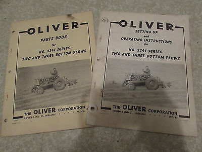 Original Oliver Plow Operating & Parts Manuals 3241 Series 2-3 Bottom Plows