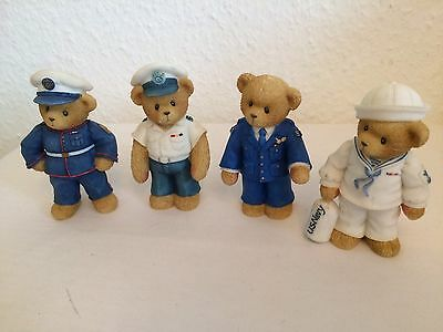 Cherished Teddies Military Collection X 4