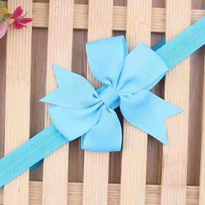 Sky Blue Lovely Kids Girls Toddler Infant Flower Headband Hair Band Headwear Hot