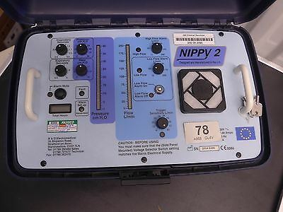 Nippy 2 Positive Pressure Portable Respiratory Ventilator Unit Oxygen Mix