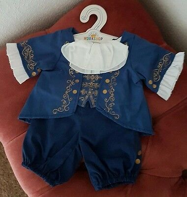 From Build A Bear Disney Beauty And The Beast:  Beast Ballroom Outfit Bnwt