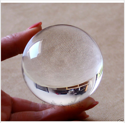 Beautiful Asian  Pure Clear Magic Crystal glass Healing Ball Sphere 60mm+stand
