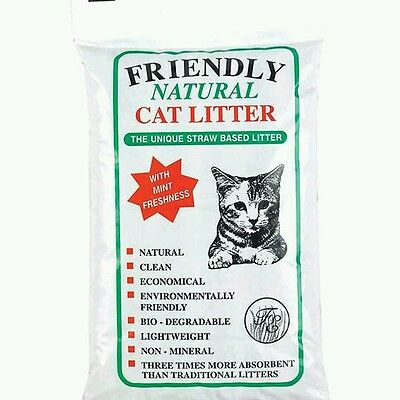 Friendly Natural Cat Litter (20kg) straw based