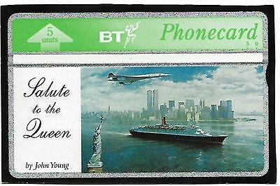 Btg405 Concorde Qe2 Twin Towers Bt Phonecard