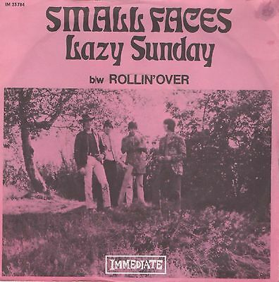 "7"" Small Faces - Lazy sunday - Germany 1968 - PS - rare originale Immediate 45"