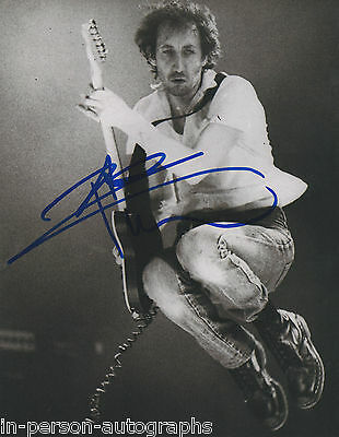 Pete Townshend Signed THE WHO 10x8 Photo AFTAL OnlineCOA
