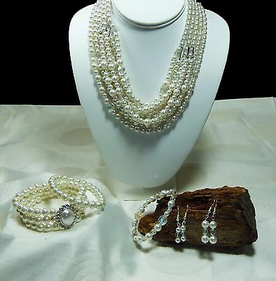 Job Lot of 6 x Pieces of Faux Pearl Costume Jewellery  (LM12)