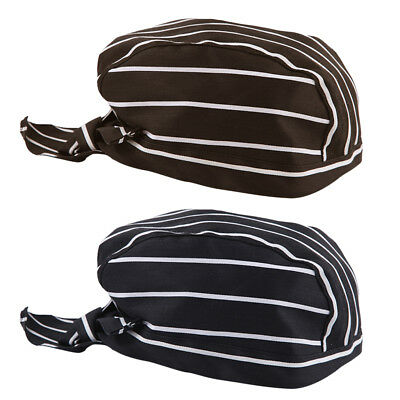 2pcs Classic Chefs Skull Cap Catering Baker Cook Chefs Hat Adjustable