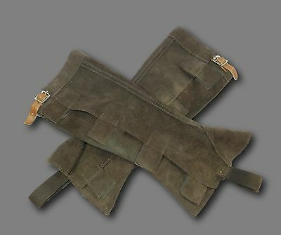 Riding Equestrian Brown Suede Leather Chaps Gaiters Sz S
