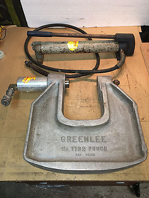 Greenlee 1732 C-Frame Hydraulic Knockout Punch 1-1903 & Pump         1D