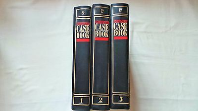 3 Murder Casebook Binders For Magazines Volumes 1, 2 And 3
