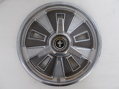 "SET OF FOUR 14"" Spinner wheel covers/hubcaps for 1964-1966 Ford Mustang Used OEM"
