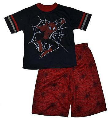 Spider-Man Boys Navy Character Top 2pc Mesh Short Set Size 4 5/6 7