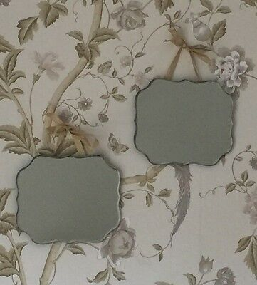 Set Of 2 Vintage Style Hanging Wall Mirrors Shabby Chic Bedroom Home Decor Gift