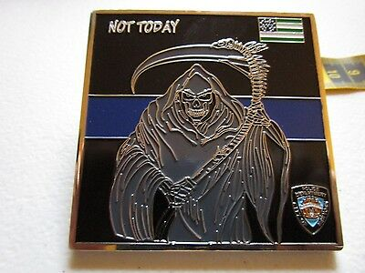 NYPD Not Today Grim Reaper Notification To Attend Ser #020 Challenge Coin #2143