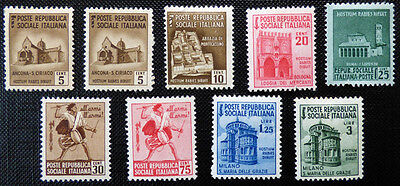 Italy Republica Sociale Italiana, mounted mint stamps with gum