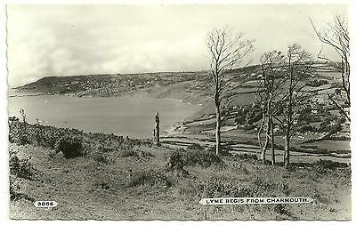 Dorset postcard Lyme Regis from Charmouth