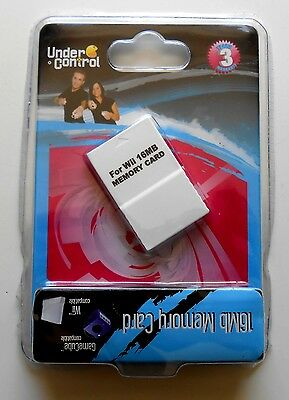Carte Mémoire Neuve Under Control - Nintendo GameCube et Wii - 16 MB - Pal
